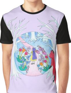 Girl in Fantasy Forest Graphic T-Shirt