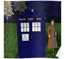 Dr Who David Tennent outside Tardis Poster