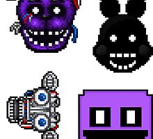 Five Nights at Freddy's 2 - Pixel art - Various Characters Sticker pack 3 by GEEKsomniac
