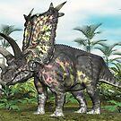 Pentaceratops by Walter Colvin