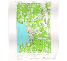 USGS Topo Map Washington State WA Kirkland 241779 1950 24000 Poster