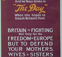 Germanys battle cry is Germany over all and her Navy drinks to the day when she hopes to smash Britains fleet We must crush this idea of Germany over all by wetdryvac