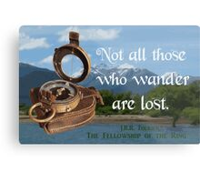 Not all Those who Wander are Lost, Tolkien, LOTR (scenic background) Metal Print