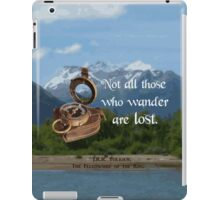 Not all Those who Wander are Lost, Tolkien, LOTR (scenic background) iPad Case/Skin