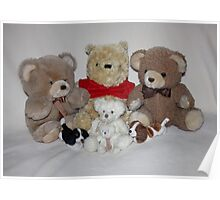 Teddy Family Portrait Poster