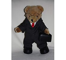 Teddy About Town Photographic Print