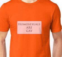 Homosexuals are Gay Unisex T-Shirt