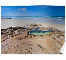 The Rock Pool - North Stradbroke Island Qld Australia Poster