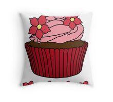 cupcake canvas 2 Throw Pillow