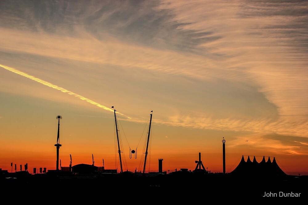 Dawn at Boardmasters Music Festival  by John Dunbar