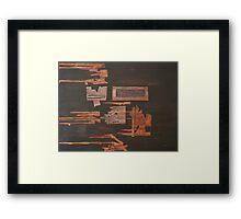 Print of 'Junkyard' Abstract Mixed Media Painting Framed Print