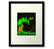 Cat Stalk Framed Print