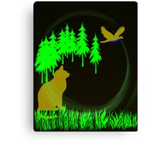 Cat Stalk Canvas Print