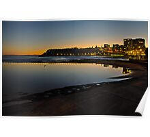 Last light, Newcastle Beach Poster