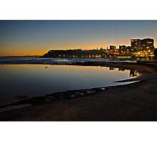 Last light, Newcastle Beach Photographic Print