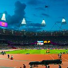 OLYMPIC STADIUM BY NIGHT by runda