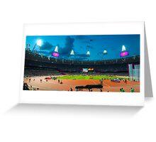 OLYMPIC STADIUM BY NIGHT Greeting Card
