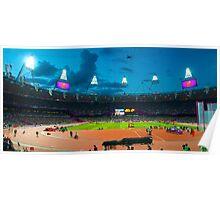 OLYMPIC STADIUM BY NIGHT Poster
