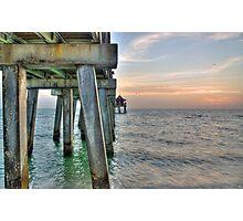 Sunset at Naples Pier  Photographic Print
