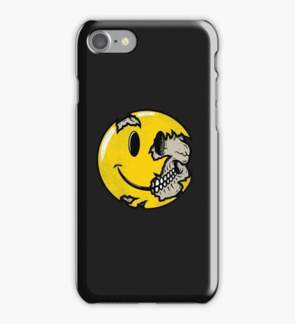 Smiley face skull iPhone Case/Skin