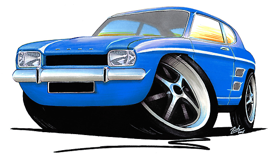 Ford Capri (Mk1) Blue by Richard Yeomans