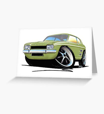 Ford Capri (Mk1) LGreen Greeting Card