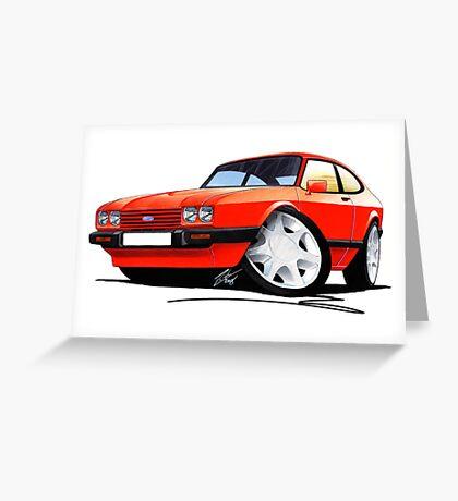 Ford Capri (Mk3) Red Greeting Card