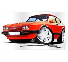 Ford Capri (Mk3) Red Poster