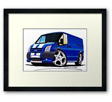 Ford Transit Sportvan Blue Framed Print