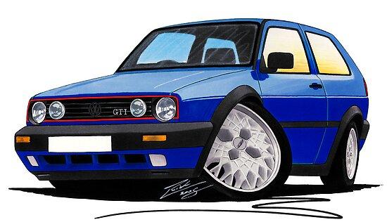 VW Golf GTi (Mk2) Blue by Richard Yeomans