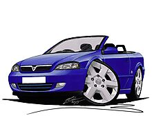 Vauxhall Astra (Mk4) Convertible Blue Photographic Print