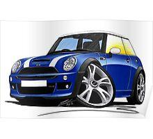 MINI [BMW] (Mk1) Cooper S Works Blue Poster