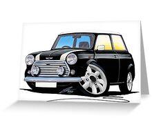 Rover Mini Cooper Black Greeting Card
