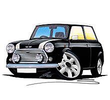 Rover Mini Cooper Black Photographic Print