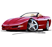 Chevrolet Corvette C5 Convertible Mag Red Photographic Print