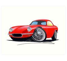 Lotus Elite S1 Red Art Print