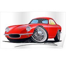 Lotus Elite S1 Red Poster