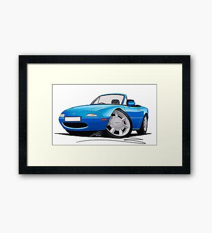 Mazda MX5 (Mk1) Blue Framed Print