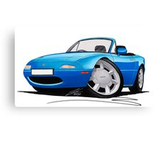 Mazda MX5 (Mk1) Blue Canvas Print