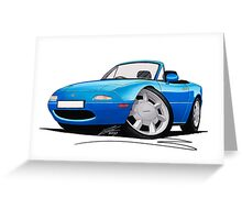 Mazda MX5 (Mk1) Blue Greeting Card
