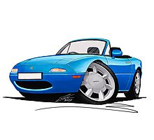 Mazda MX5 (Mk1) Blue Photographic Print