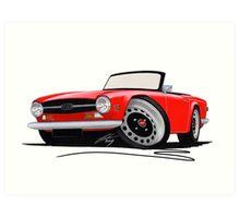 Triumph TR6 Red Art Print