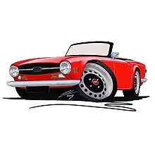 Triumph TR6 Red Photographic Print