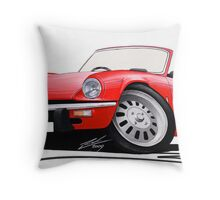 Triumph Spitfire Mk4 Red Throw Pillow