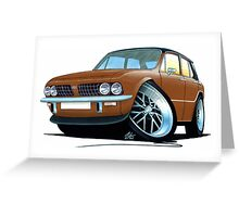 Triumph Dolomite Sprint Brown Greeting Card