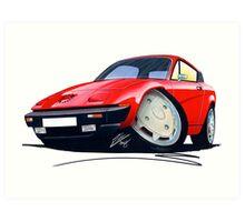 Triumph TR7 FHC Coupe Red Art Print