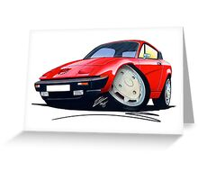 Triumph TR7 FHC Coupe Red Greeting Card