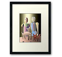 Magic family portrait Framed Print