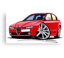 Alfa Romeo 159 Red Canvas Print
