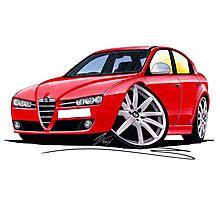 Alfa Romeo 159 Red Photographic Print